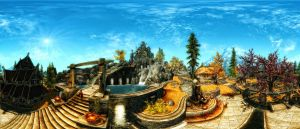 Skyrim - Whiterun Dragonsreach by Riot23