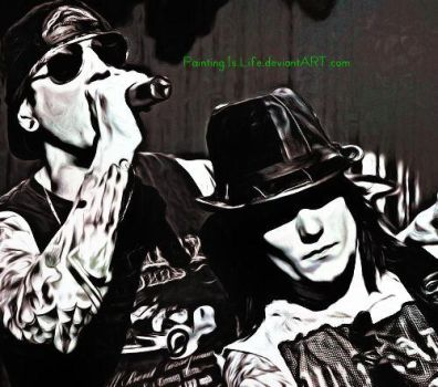 .:M.Shadows and Synyster Gates - A7X:. by Painting-Is-Life