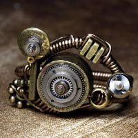 Multi Oscillatr Steampunk Ring by CatherinetteRings