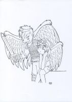 lineart_angels by fuegokid