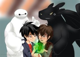Big Hero 6 x How To Train Your Dragon by hisui94