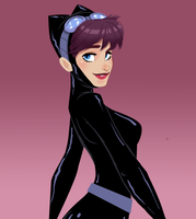 Catwoman toon fanart by cesarvs