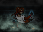 Brave monk at a dark place by Tygazz