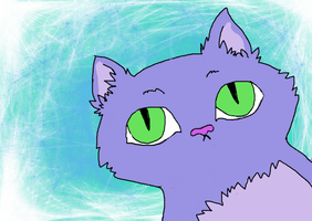 purple kitty by tiger1526