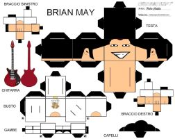 Brian May cubeecraft by melopruppo