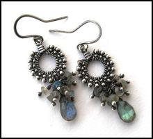 labradorite drop earrings by annie-jewelry