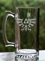 LoZ Triforce Mug by NavahoMoon