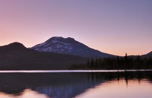 South Sister Sunset by metro