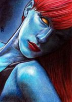 Mystique Sketch Card 7 by veripwolf