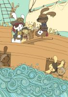 Pirate Bunny Mutiny by Afterwinds