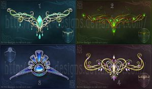 Magic diadems (set 1) - Sale!!! by Rittik-Designs
