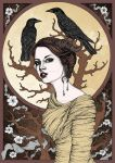 Girl With The Crows by ParanoiiidA