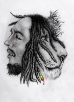 Bob Marley by blacksoulgraphics
