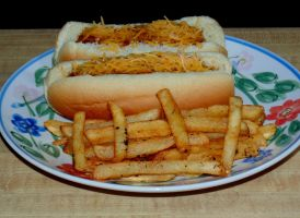 Chili Dogs And Spiced Fries by trunks1z
