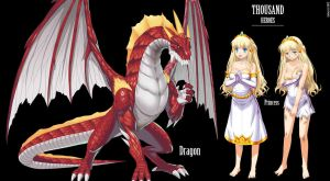 Dragon/Princess Concept by iSohei