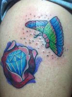 Colorbomb butterfly tattoo. by EricTatt