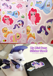 My Mini Pony Sticker Sheet Printed by Shattered-Earth