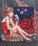 Night Rose, Black and Red by Hojinpower