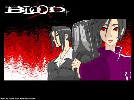 Blood+ Saya And Haji Vector by Xpand-Your-Mind