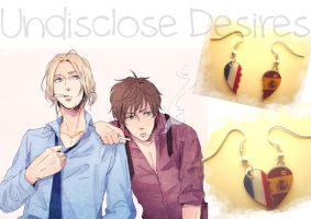 APH - France x Spain - Half Heart Earrings by Undisclose--Desires