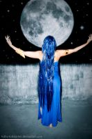 The Goddess And The Moon by Luthy-Lothlorien