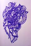 lines in purple by Naiyana