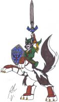 Wolf Taur Link - Colored by dragonheart07