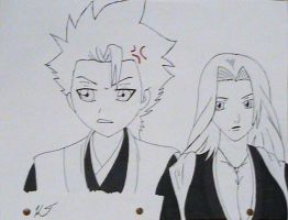 Hitsugaya and Rangiku by Zombie-Necromancer23