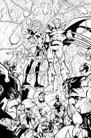 WHAT IF: AVENGERS VS X-MEN 3 PAGE 20 INKS by Sandoval-Art