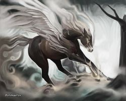 Pegasus of the Fogs by Widdershins-Works