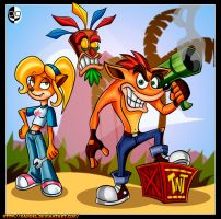 CRASH BANDICOOT by XAMOEL
