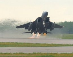 F-15E Strike Eagle Take-Off by ndagijy