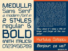 Medulla Sans Font Sample by roberlan
