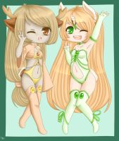 peachy n pinpin by Mistress-Squidsy
