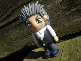 Brian from Subsapien Polymer Clay Chibi (Angled) by LadyElasa