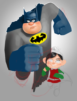 Wreck-It Ralph / Batman mashup by Mantroon