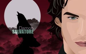 Damon Salvatore by overtherhone