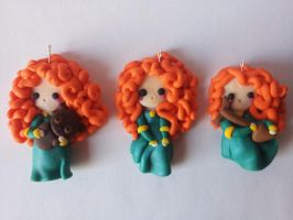 Disney's Brave : 3 Clay Merida pendants by FantasySystem