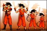Goku Through the years. by KellBellz
