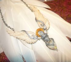 Angelic Vial - heavenly handcrafted Necklace by Ganjamira