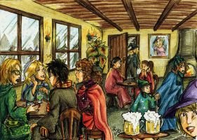At the Three Broomsticks by amandioka