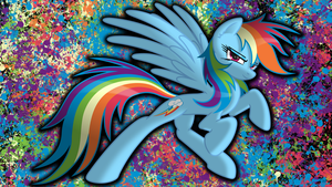 Rainbow Dash Splat Wallpaper by danspy1994