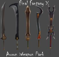 FFX Auron Weapon Pack by Frozen-Knight