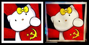 Hello Kitty Communist by ChibiCelina