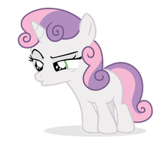 Sweetie Belle - [Spits] by guille-x3