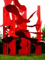 Red Blob Sculpture. by LSD-Dreams