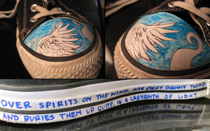 Angel Wing Converse. by intencities