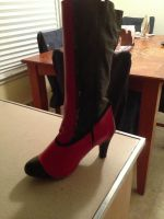 Progress on my Grell Heels by DigiDrawer