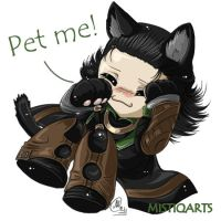 Loki kitty wana cuddle by Mistiqarts