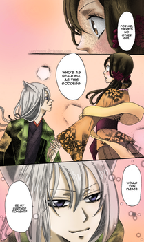 Coloring: the goddess and the fox. by CazyBunny